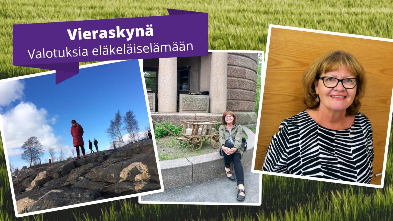 Vieraskynä valotuksia eläkeläiselämään: kuvia Arja Jämsenin kotialbumista.